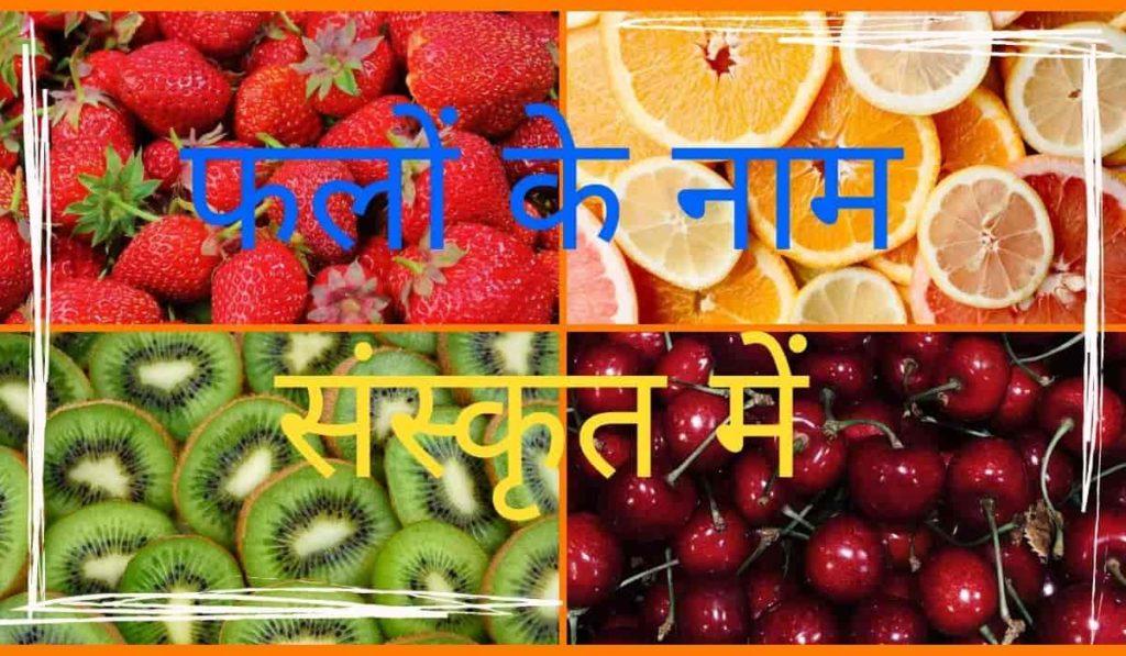 Fruits Names In Sanskrit