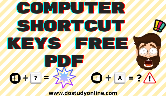Computer ki Shortcut Key in Hindi