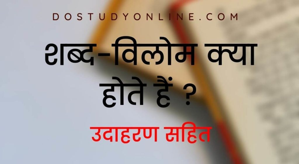 Vilom Shabd - Hindi (Antonyms)